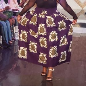 Dresses & Skirts - Purple Ankara Skirt